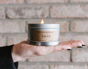 Kava Soy Candle | Wood Wick Candle | Coffee Candle | Teacher Gift | Coffee Scent | Gift for Her | Hostess Gift