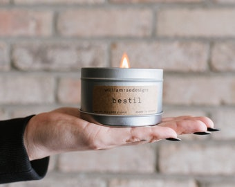 Bestill Soy Candle | Tobacco, Vanilla, Coconut, and Coffee Scent | Teacher Gift | Hostess Gift | Gift For Her |  Wood Wick Candle