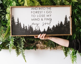 Into The Forest I Go Wood Sign | Inspiring Quotes | Rustic Decor | Rustic Sign | Adventure Wood Sign | Gift under 80 | Farmhouse Style