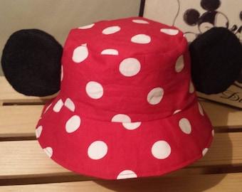 0bf24ec3f7b Mickey Mouse Bucket Hat   Kids Disney Sun Hat   Mickey Ears Hat