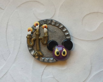 Haunted Mansion Mickey Pin / Haunted Mansion Mickey Brooch / Haunted Mansion Mickey Badge