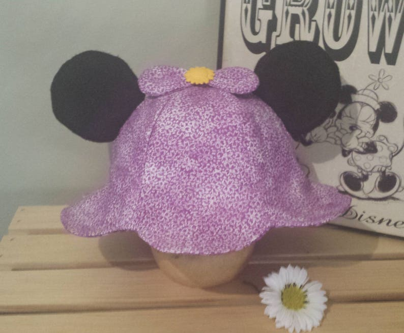 8c1eb439c4d Daisy Duck Sun Hat   Kids Disney Sun Hat   Mickey Ears Hat
