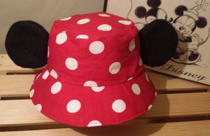 b96baf2da08 Mickey Mouse Bucket Hat   Kids Disney Sun Hat   Mickey Ears