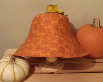 Pumpkin sun hat for adults / Fall sun hat / Halloween sun hat / Pumpkin bucket hat