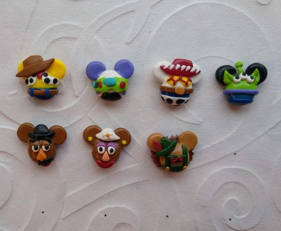 Disney Inspired Toy Story Mickey Head Earrings Set Three Pair Woody Buzz Lightyear and Space Alien