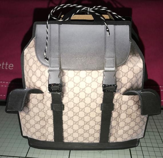 0901c3e296b2 Boys Black Gucci Backpack Treat Box | Etsy