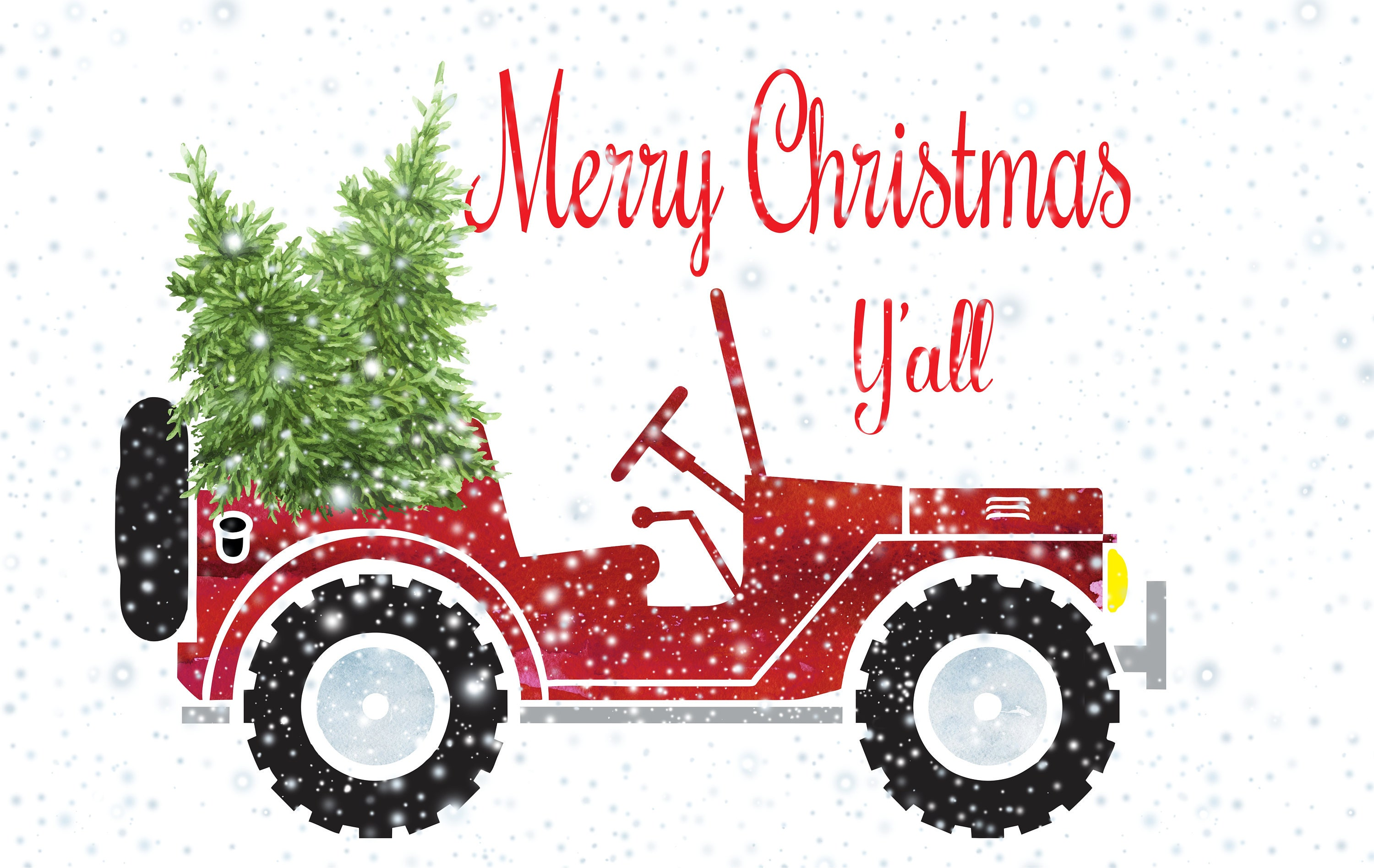 Christmas Jeep Sublimation Transfer Jeep Sublimation   Etsy