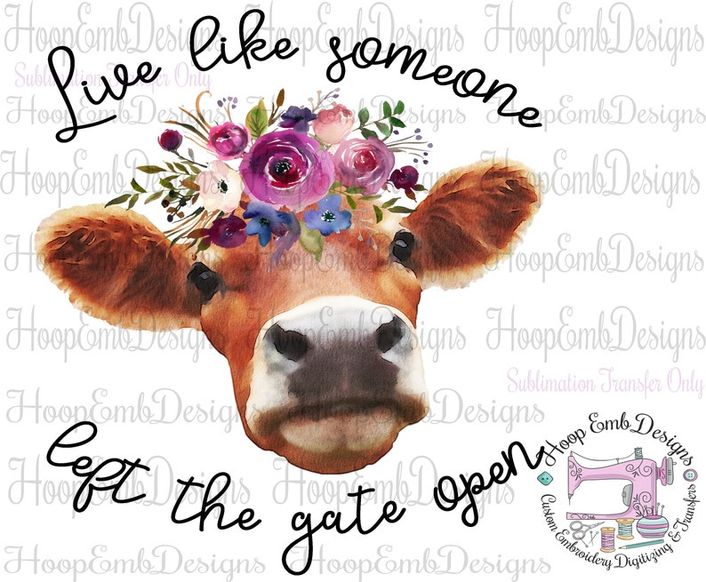 34a937fb64cd0 Cow Sublimation Transfers Ready to Press, Custom Printed Sublimation  Transfer, Animal Sublimation Transfers for Shirts, Heifer Cow Transfer
