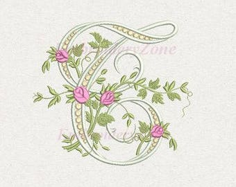 H Monogram Machine Embroidery Design Letter H From Beautiful Etsy