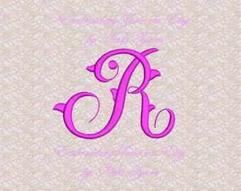 Vintage style monogram letter n machine embroidery design etsy vintage style monogram letter r machine embroidery design embroidery pattern monogram letter r hoop 4x4 4 sizes spiritdancerdesigns Image collections
