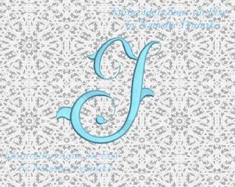 vintage monogram j embroidery design initial fancy letter j embroidery designs not alphabet 4 sizes hoop 4x4