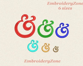 cf3bc609401f Ampersand mini embroidery design. Sign of an ampersand for monogram or  letter wedding other Souvenirs ampersand embroidery pattern. 6 sizes.