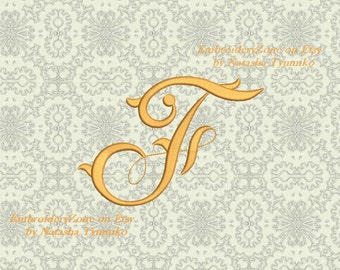 Double monograms old style e v machine embroidery etsy vintage style monogram letter f machine embroidery design embroidery pattern monogram letter f hoop 4x4 4 sizes spiritdancerdesigns Image collections