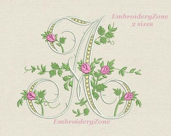 M Monogram Machine Embroidery Design Letter M From Beautiful Etsy