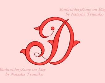 Vintage Monogram J Embroidery Design Initial Fancy Letter J Etsy