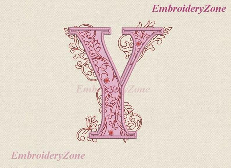 Grande lettre y applique design de broderie machine monogramme etsy