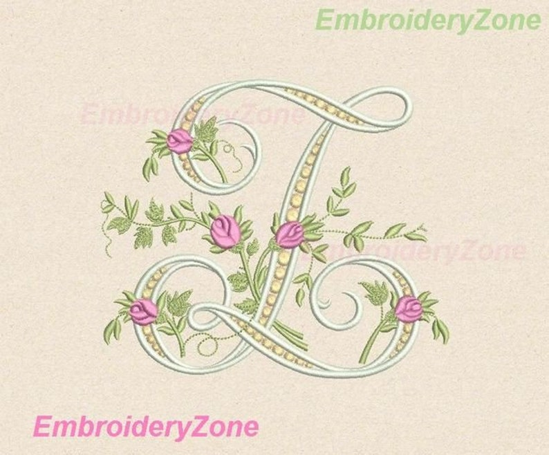 Monogram letter Z embroidery design from beautiful alphabet, wedding  monogram z embroidery pattern, not whole alphabet  4 sizes