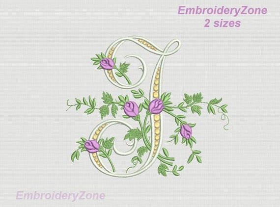 J Monogram Machine Embroidery Design Letter J From Beautiful Etsy