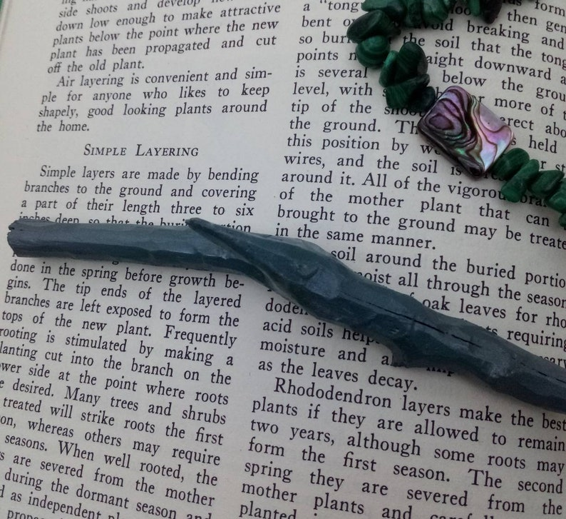 blue boho hair accessory natural wood hair stick painted hair stick Blue Hand carved wooden hair stick blue wooden hair pick