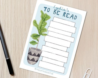 To Be Read Book List Reading/Book Tracker A6 Postcard - Reading challenge, TBR reading list, bookish gift, book lover gift