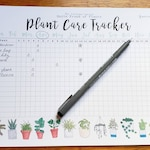 Plant Care Tracker DIGITAL DOWNLOAD Print Yourself at Home - Plant water and feed tracker calendar - monthly printable file A4/US Letter