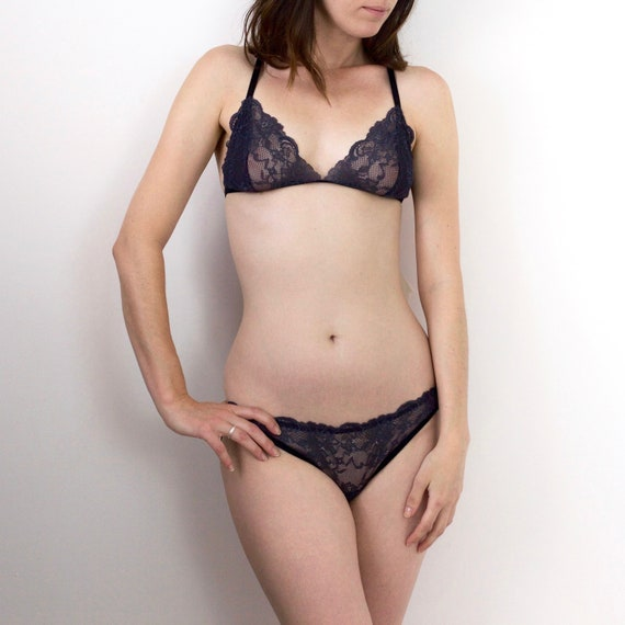 The Collection Womens Navy Lace /'Lily/' Full Brief Knickers