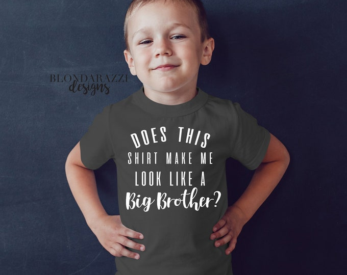 Big Brother Shirt Short Sleeve Baby Sibling Announcement