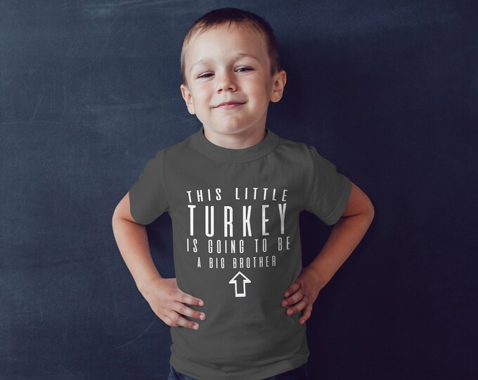 Big Brother Thanksgiving Baby Announcement Tee Shirt
