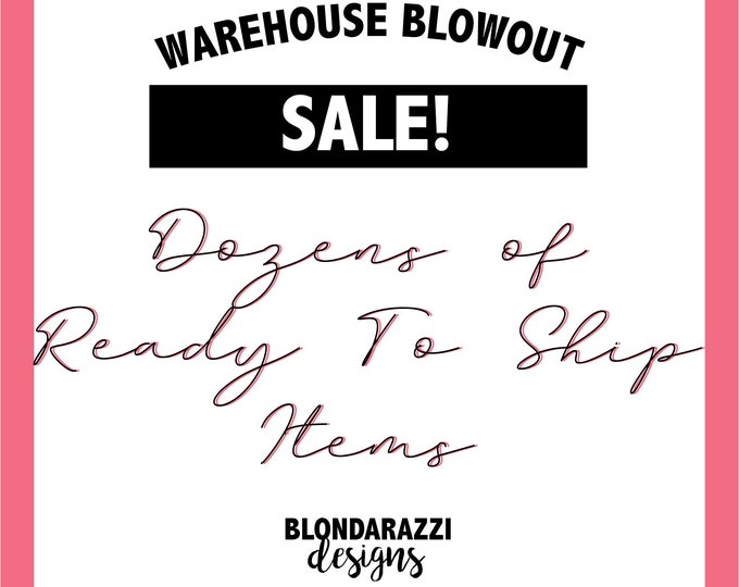 Warehouse Blowout Items for sale on Clearance