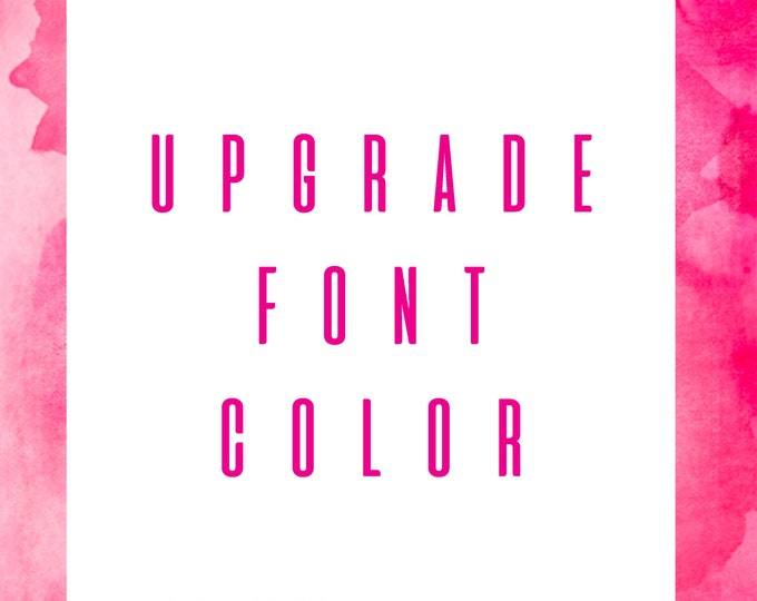 Upgrade Your Font Color