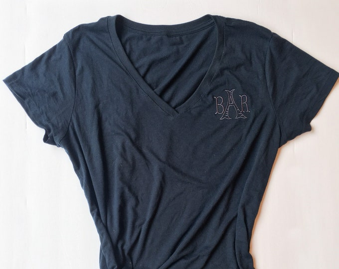 Vneck Tshirt with subtle monogram
