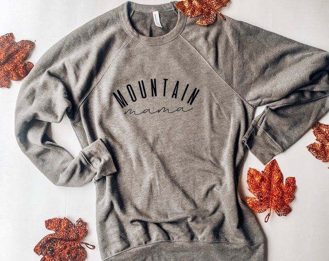 Mountain mama crew neck sweatshirt
