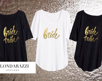 Bride Tribe Bachelorette Party shirts