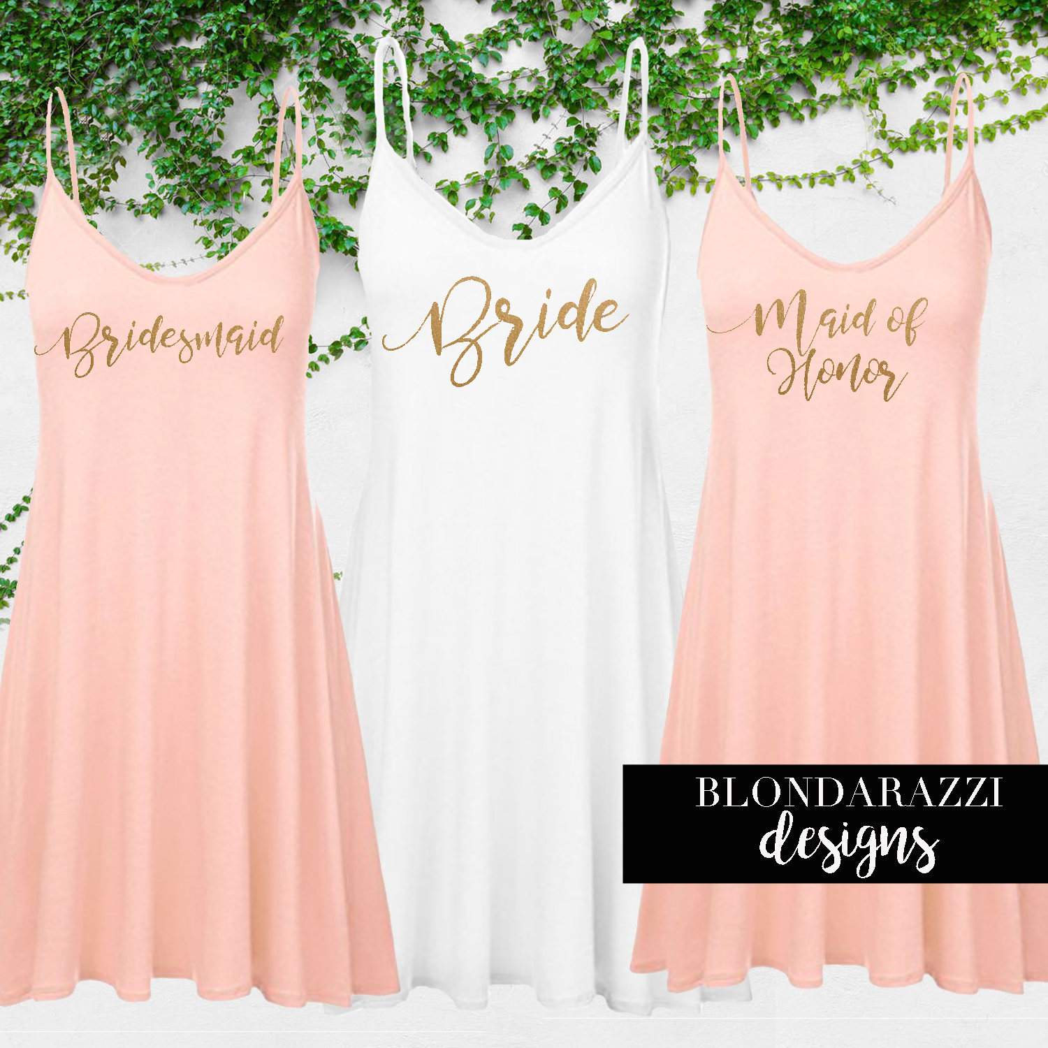 Bride And Bridesmaid Outfits Gifts For Getting Ready On Wedding Day