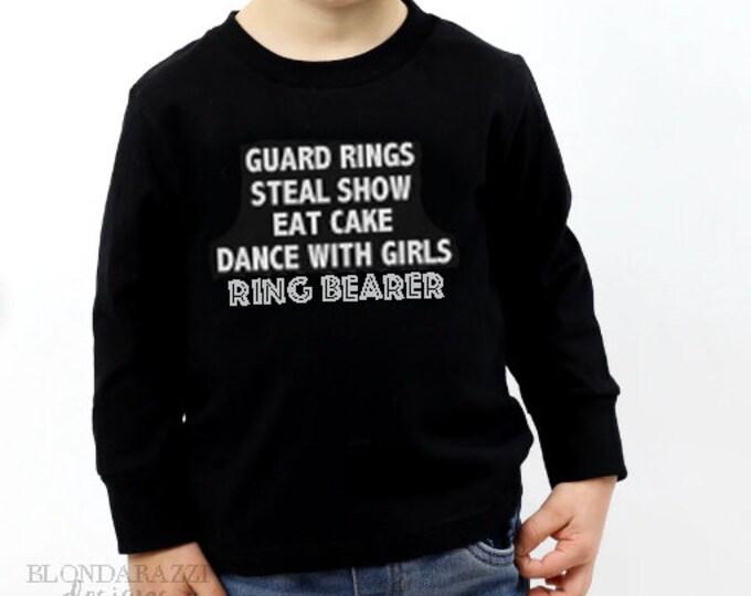 Ring Bearer Long Sleeve Toddler Youth Infant Shirt Tshirt