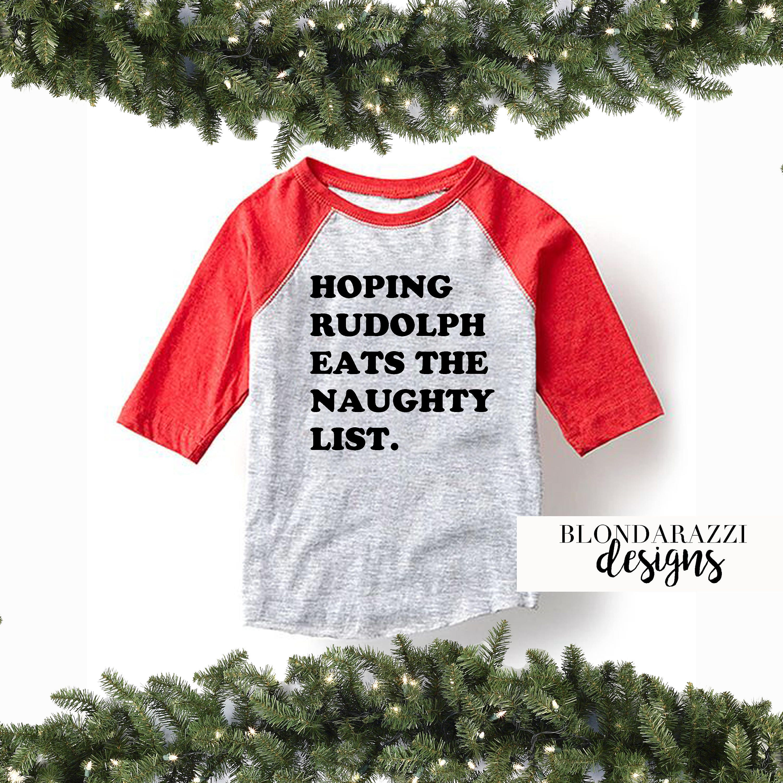 Naughty List Kids Unisex Boys Or Girls Funny Christmas -5987