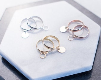 Pampille ring, adjustable ring, glossy finish, high quality tackle