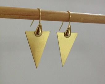 Earrings geometric brass gross