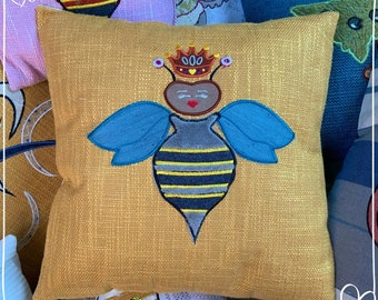 Queen Bee Themed Cushion