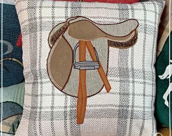 Horse Saddle Themed Cushion