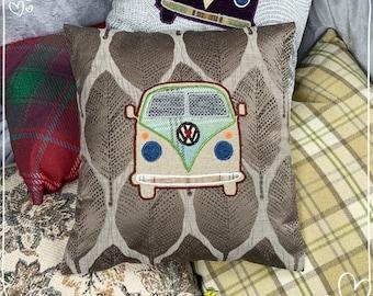 Stylised Camper Van Cushion