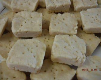 Butter Shortbread Two-Bite Cookies