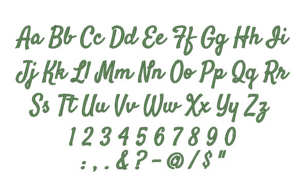 Large Thin Athletic Block Machine Embroidery Alphabet Font Designs