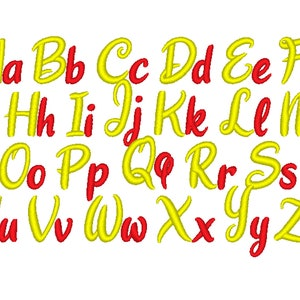 NEW Becky Monogram satin machine embroidery Font designs alphabet sizes 0.5  1 1.5  1.7 2 alphabet .BX .pes .hus .dst .vp3 .vip .xxx