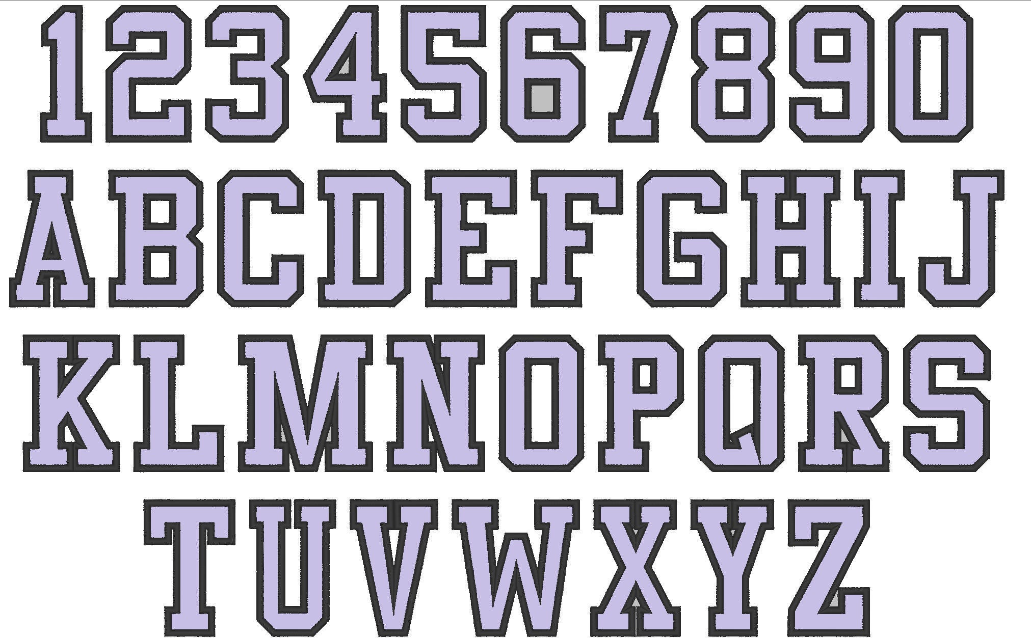 Hight school varsity collegiate, block mini applique Font machine  embroidery designs - many sizes, BX embroidery, bx font alphabet sport