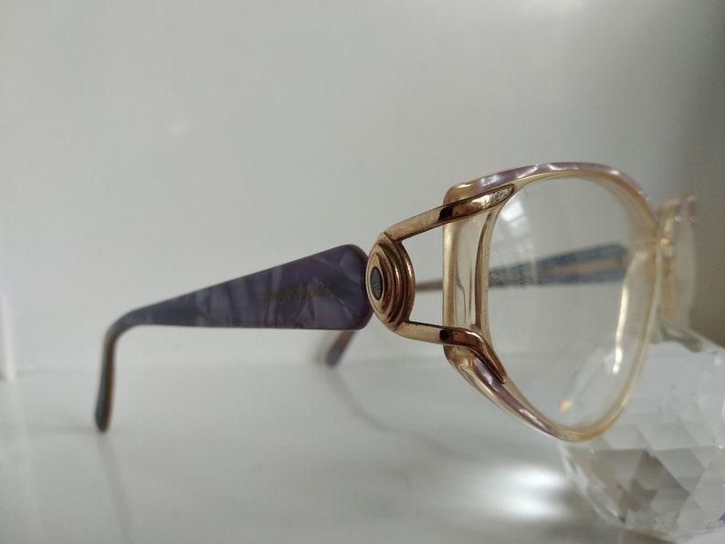 Vintage 90s YSL Yves Saint Laurent Woman  Jeweled Cat -Eye Frame Eyewear  Italy N.O.S