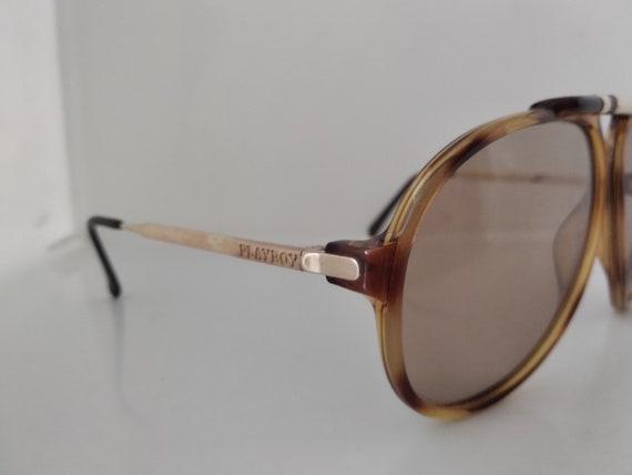 Vintage 80s Playboy 4592 Man Aviator Sunglasses A… - image 2