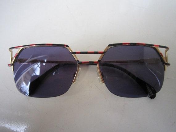 Vintage 80s CAZAL Mod 248  Gold Sunglasses German… - image 4