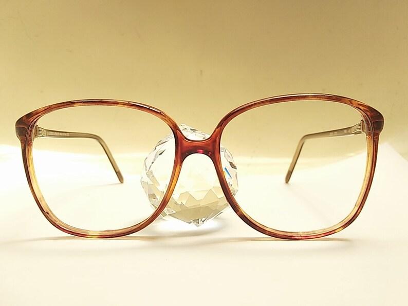 Vintage 80s GIORGIO ARMANI Tortoise Eyeglasses Frame Italy