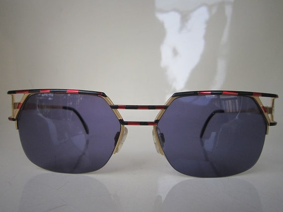 Vintage 80s CAZAL Mod 248  Gold Sunglasses German… - image 1